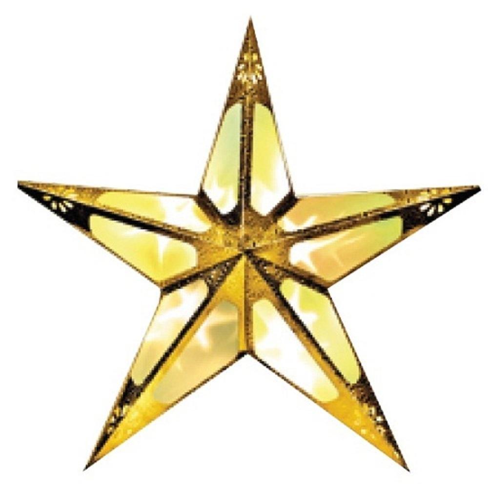 Weihnachtsstern 60cm 10er LED Hologramm-Effekt gold innen 009-80