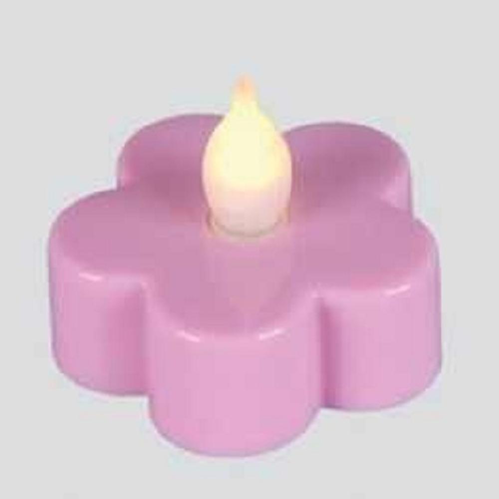 LED-Teelicht 3 Stück Teelichter Blüte rosa Best Season 066-14