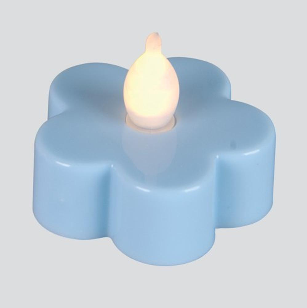 LED-Teelicht 3 Stück Teelichter Blüte blau Best Season 066-15
