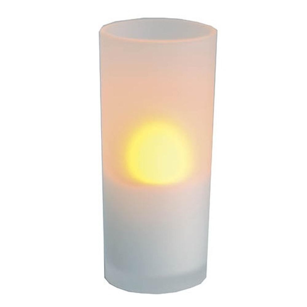 LED Windlicht flackernd an/aus pusten Glas 12cm Best Season 066-43