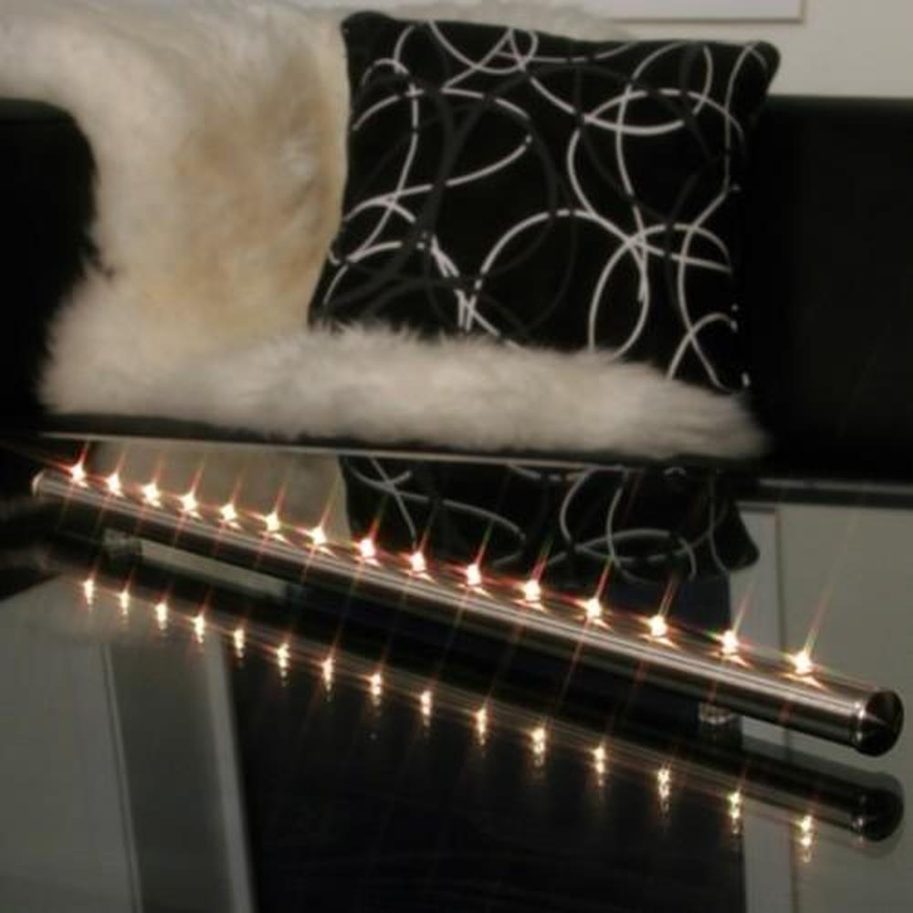 Lichtleiste chrom 15er LED warmweiss Batterie / Trafo 190-84