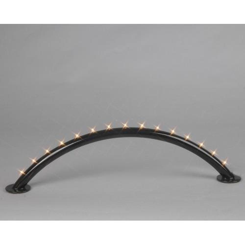 Lichterbogen schwarz 15er LED warmweiss Batterie / Trafo 191-80