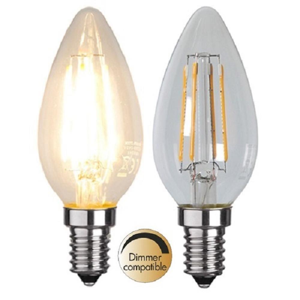 Illumination LED Filament E14 230V 400lm 3,2W 2700K dimmbar 352-03 Glühbirne