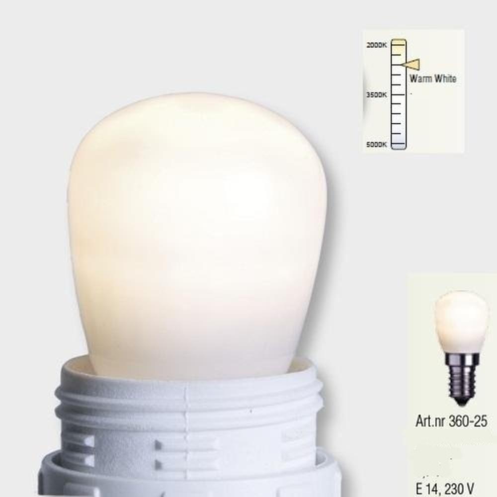 Decoline LED Glühbirne E14 3000K 65lm 230V warmweiß satiniert 360-25
