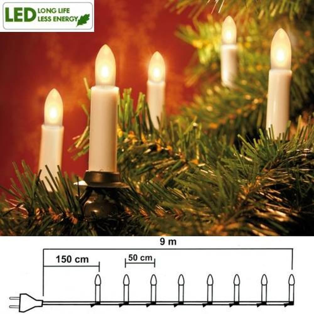 led weihnachtsbaumbeleuchtung 16er lichterkette 7 5m warmwei 401 90 ebay. Black Bedroom Furniture Sets. Home Design Ideas