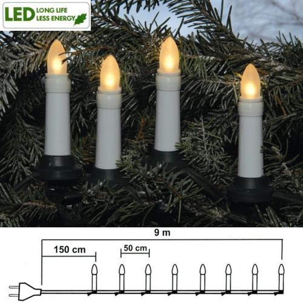 LED Weihnachtsbaumbeleuchtung 16er Lichterkette 7,5m warmweiß außen 411-90