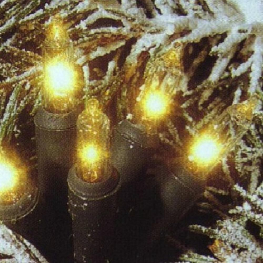 Mini-Lichterkette 80er klar - grün 15,8m  innen/außen 441-55