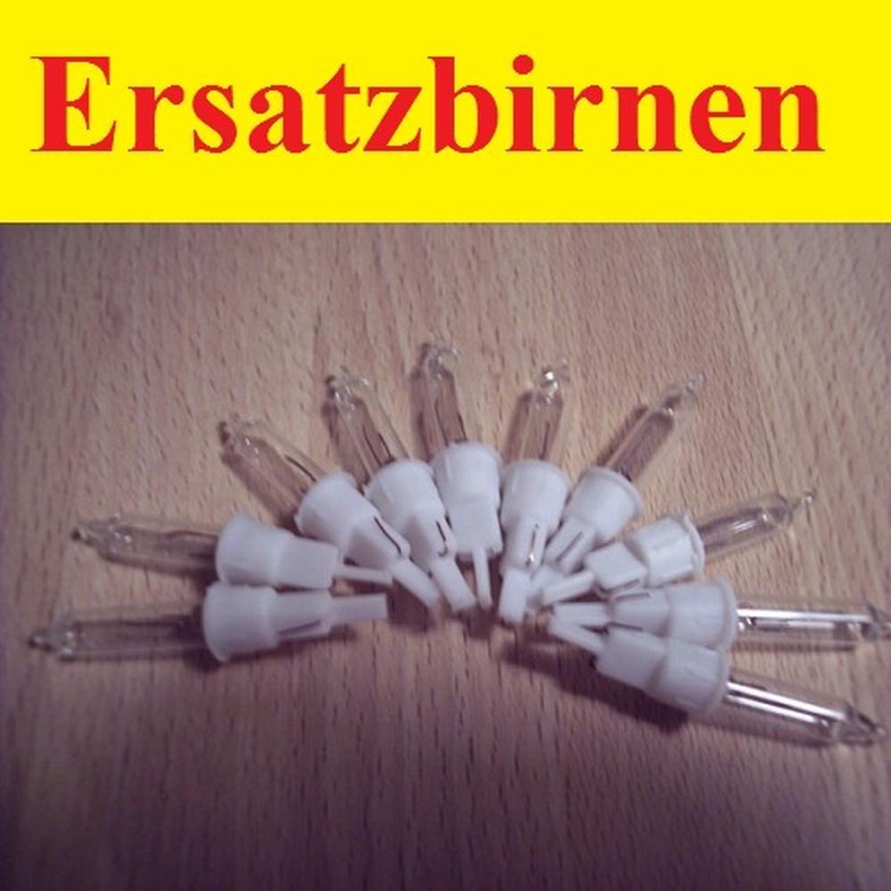 Ersatzlampen / Ersatzbirnen 10 Stück 2,4V / 0,168W für Eisregenlichterkette