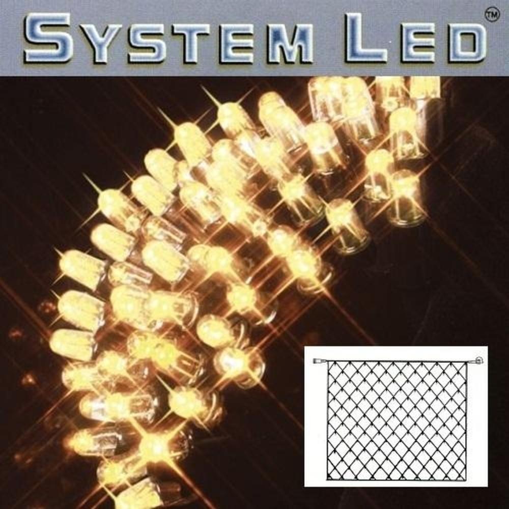 System LED Lichternetz 3x3m 192er warmweiss - schwarz 465-16-33