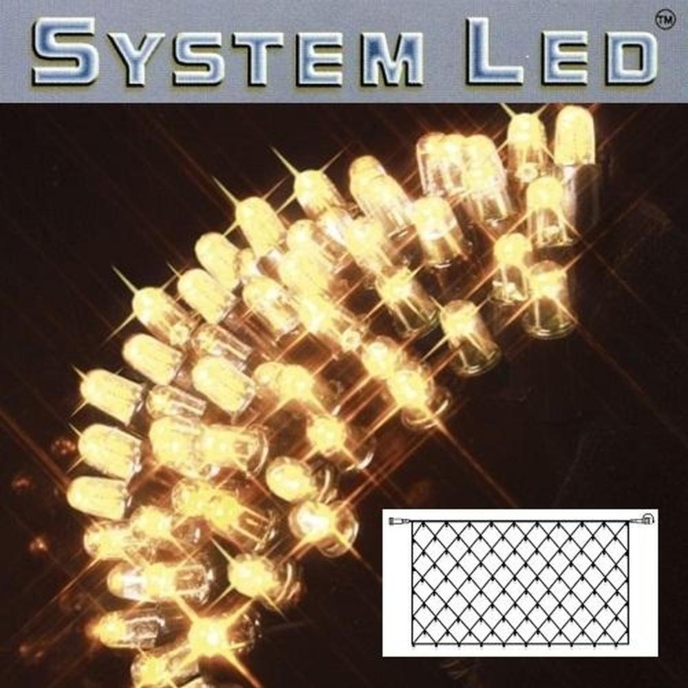 System LED Lichternetz 2x1m 100er warmweiß - schwarz 465-16