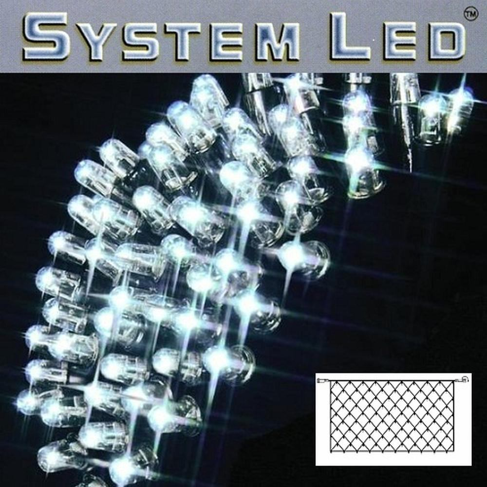 System LED Lichternetz 2x1m 100er cool light Kabel schwarz 465-18