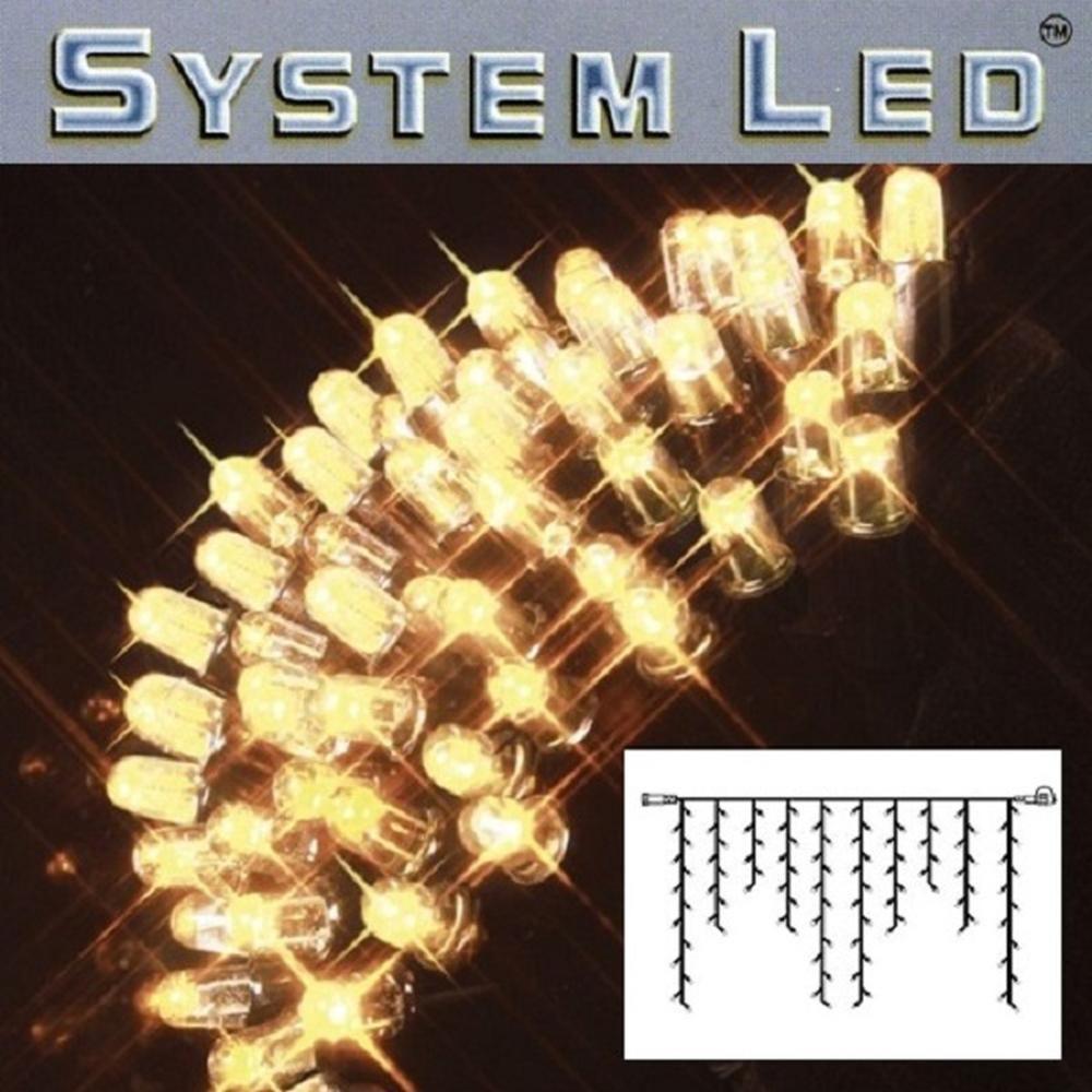 System LED Eisregen-Lichterkette 2x1m 100er warmweiß - schwarz 465-36