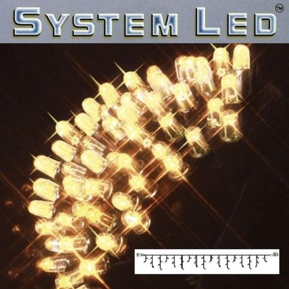 System LED Eisregen-Lichterkette 3x0,4m warmweiß - schwarz 465-46