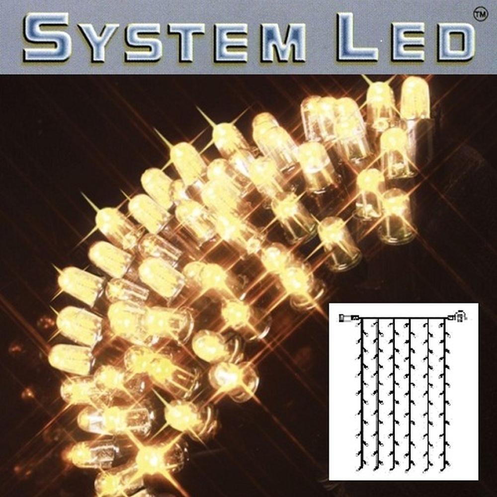 System LED Lichtervorhang 102er 1x2m warmweiß - schwarz 465-56