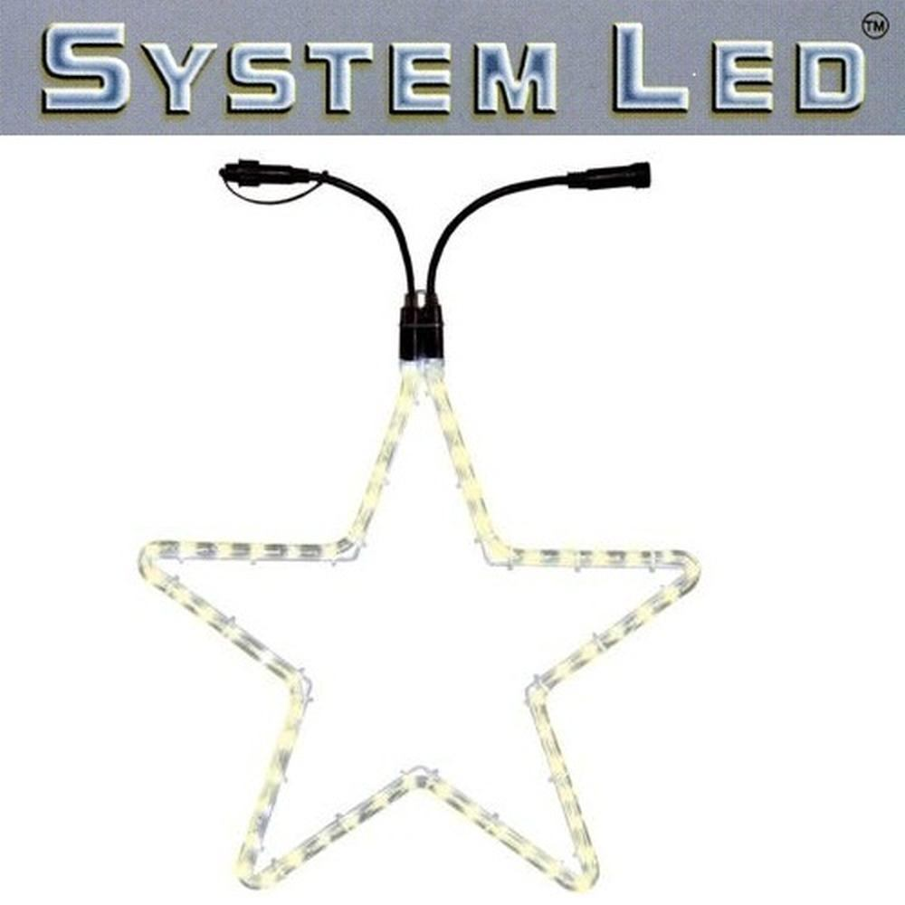 System LED Lichtschlauch Stern Extra 55cm warmweiß 465-76
