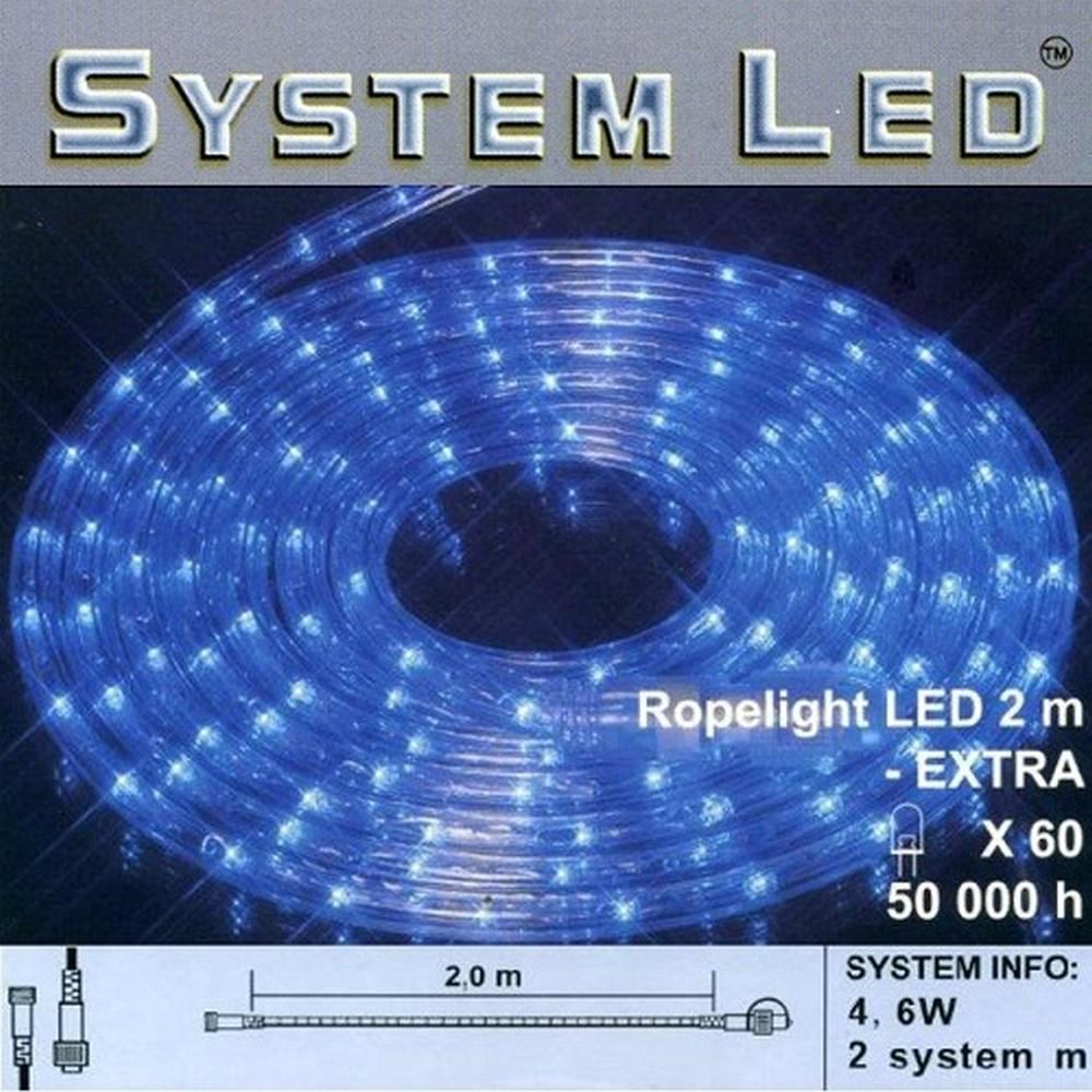 System LED Lichtschlauch Ropelight Extra 2m blau 465-83