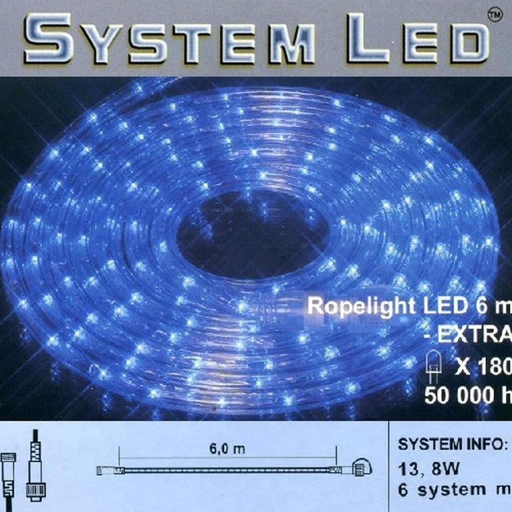 System LED Lichtschlauch Ropelight Extra 6m blau 465-86