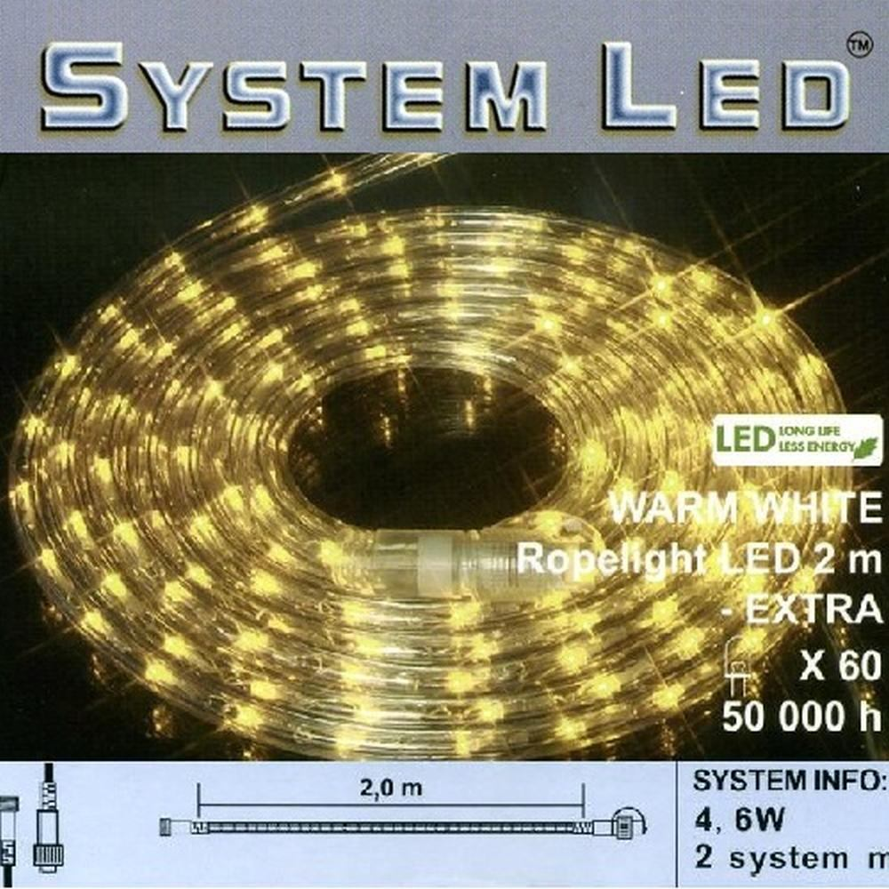 System LED Lichtschlauch Ropelight Extra 2m warmweiß 465-88