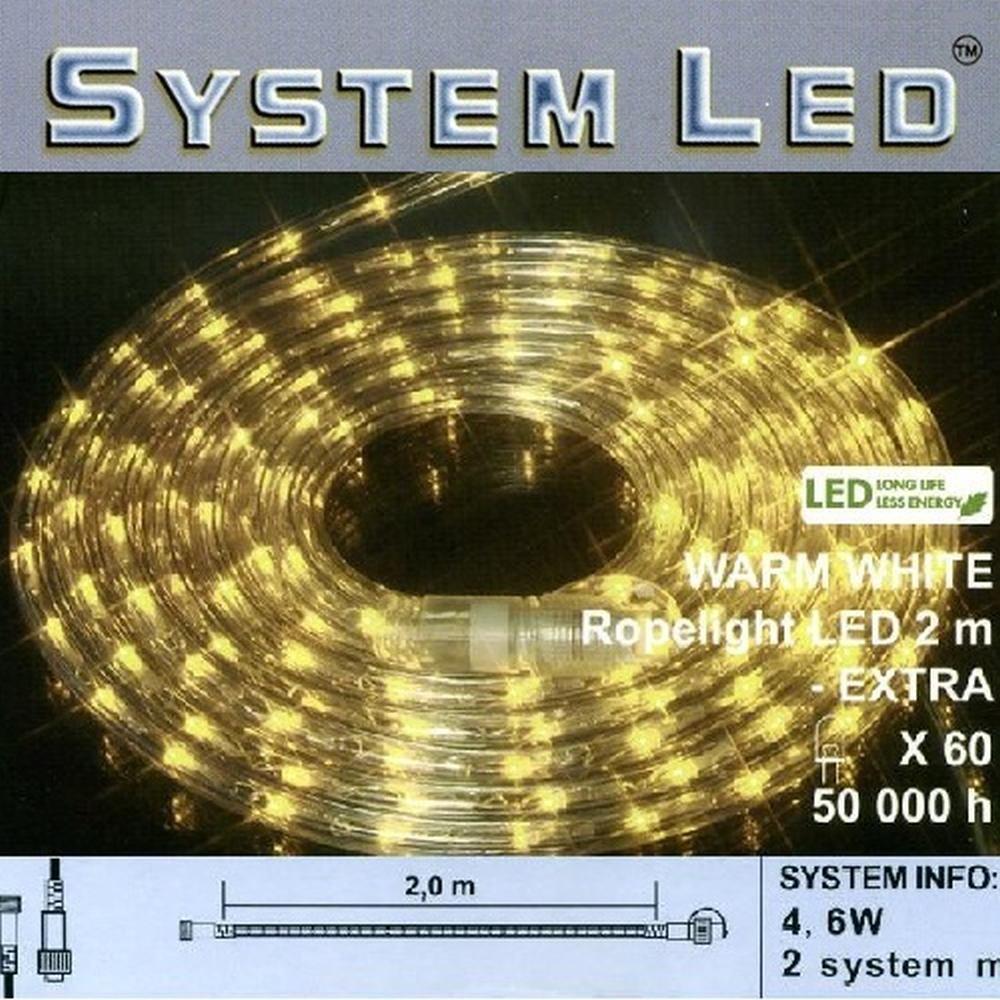 System LED Lichtschlauch Ropelight Extra 2m warmweiß 465-88