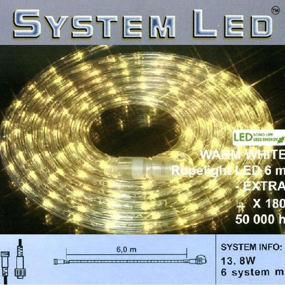 System LED Lichtschlauch Ropelight Extra 6m warmweiß 465-89