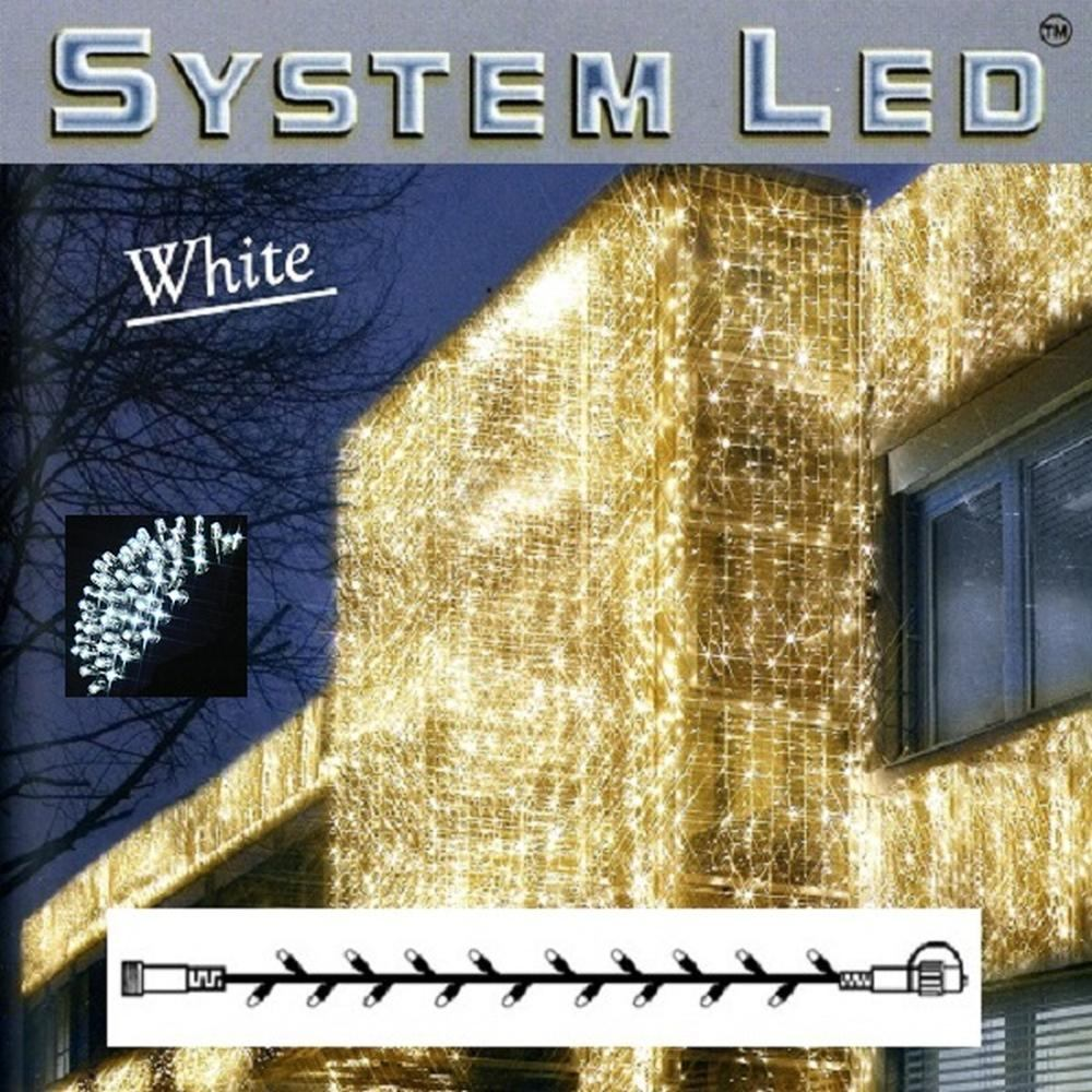 System LED Lichterkette 50er cool light Kabel weiß außen 466-08 xmas
