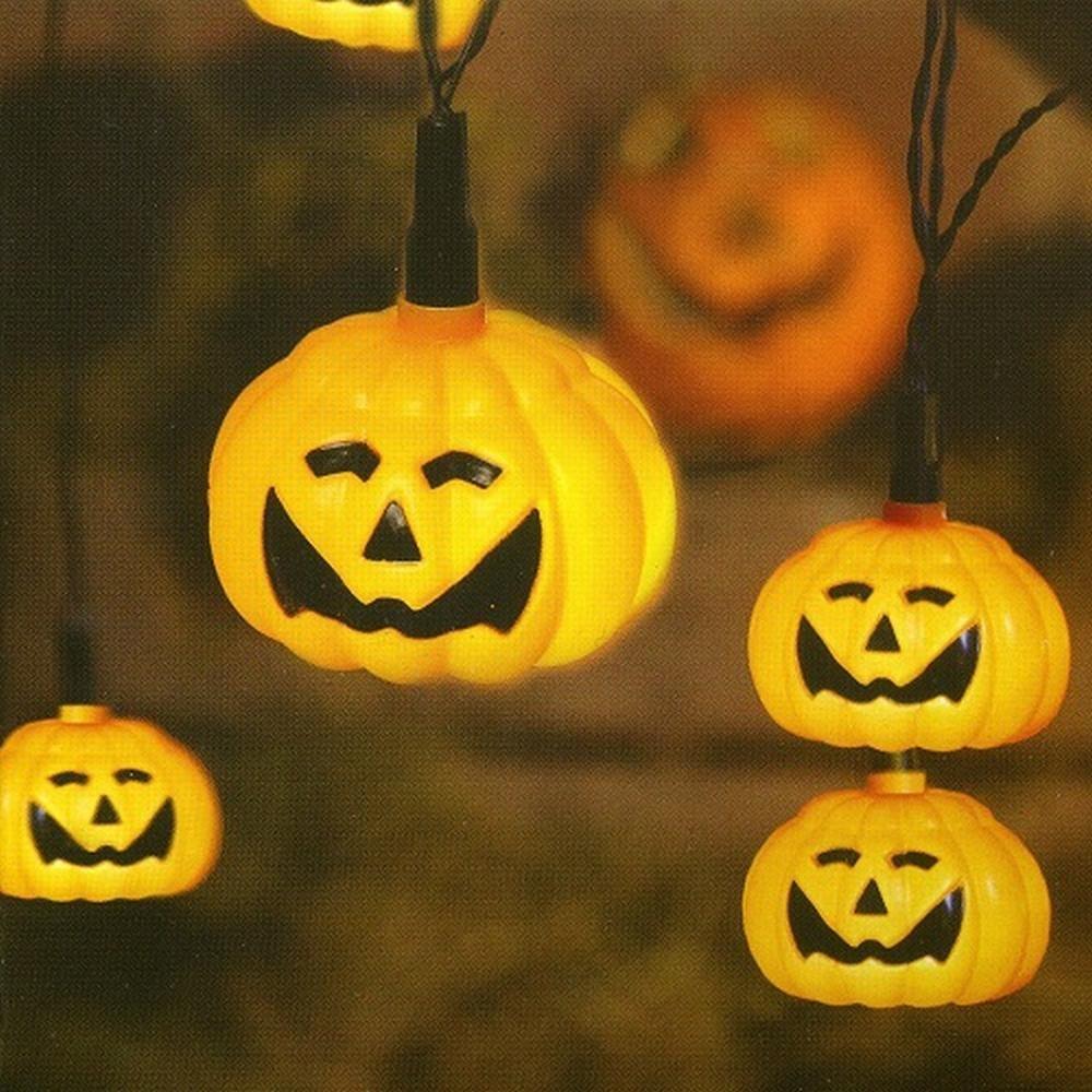 LED Halloween Lichterkette Kürbis / Pumpkin 8er Best Season 476-11