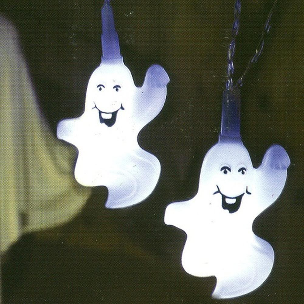 LED Halloween Lichterkette Geist / Ghost 8er Best Season 476-12