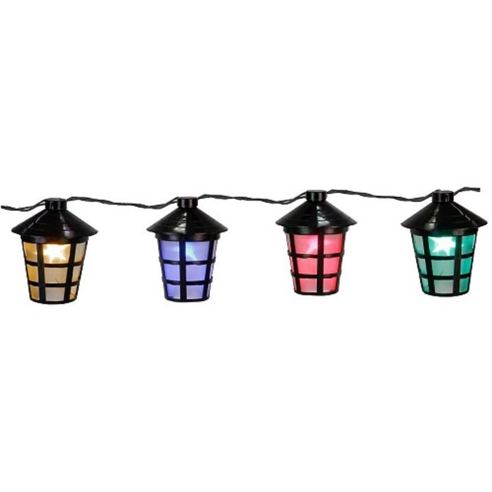 LED Party-Lichterkette 10er Lampion Laterne bunt Best Season 476-21
