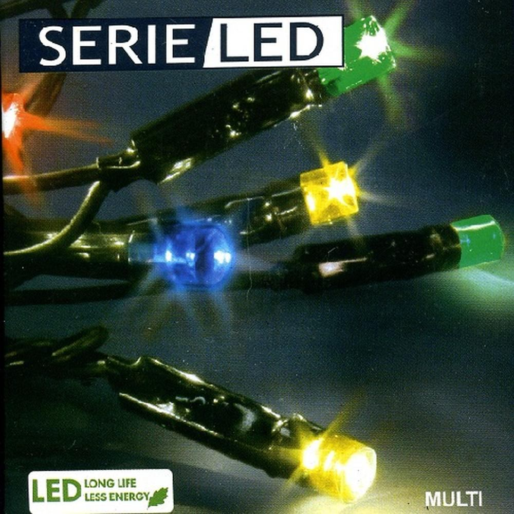 LED Lichterkette 12m 96er multicolor / schwarz Best Season 476-51