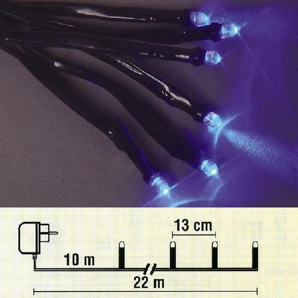 LED Lichterkette 12m 96er blau / schwarz außen Best Season 476-59