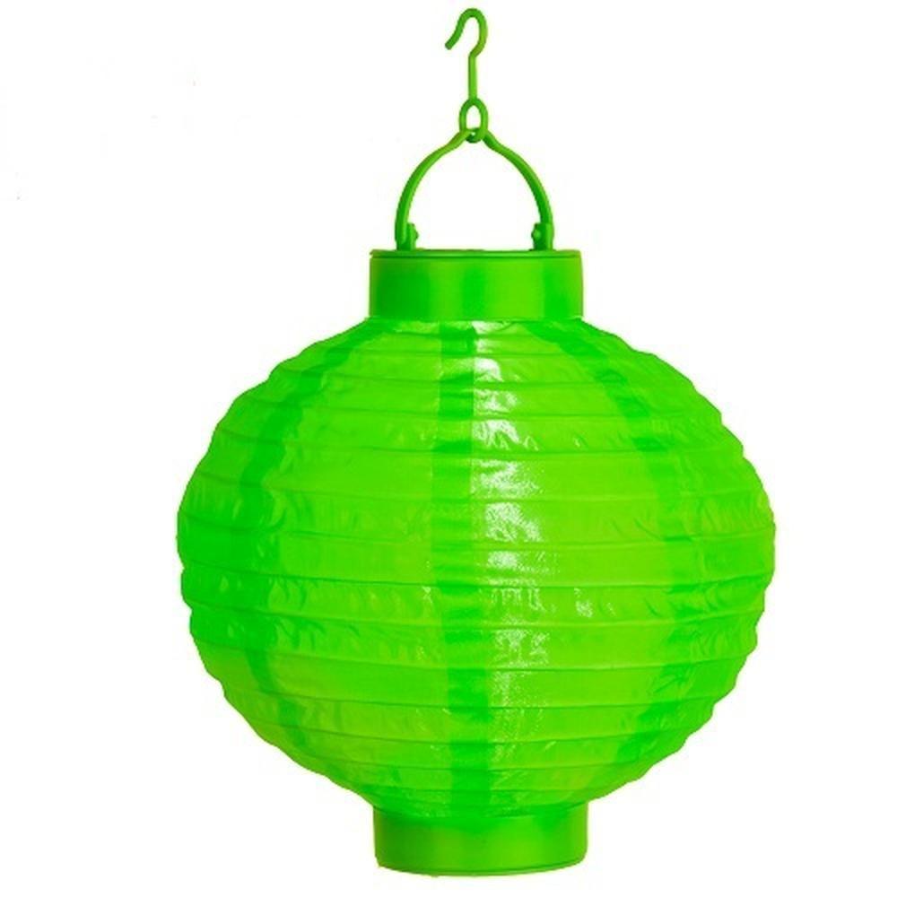 LED Solar-Lampion Farbe grün rund Best Season 477-25