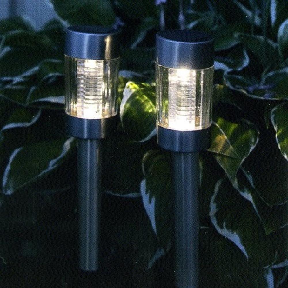 Edelstahl LED Solarleuchte Solarlampe warmweiss Best Season 477-53