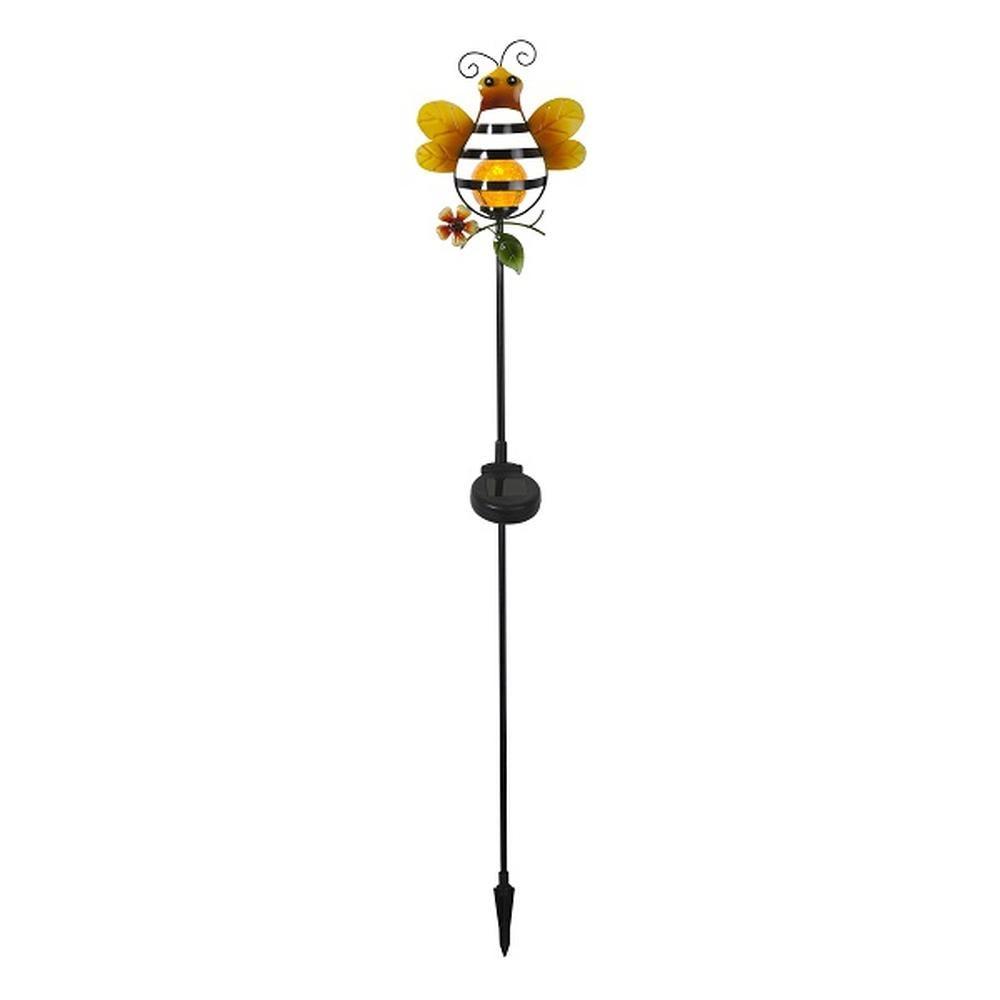 LED Solargartenstab Solarleuchte SICILLY Biene außen Best Season 479-09