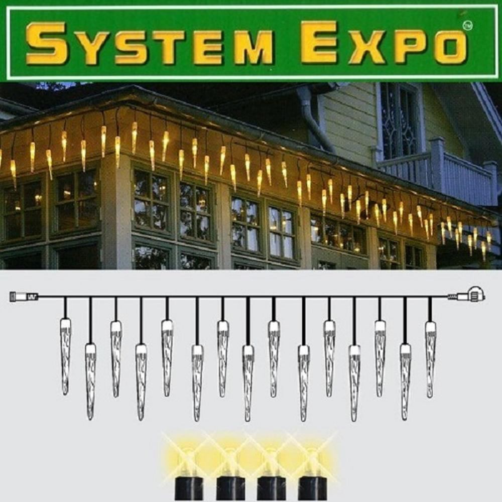 System Expo Icicle-Lichterkette-Extra 25 Zapfen 4x0,4m Best Season 484-36