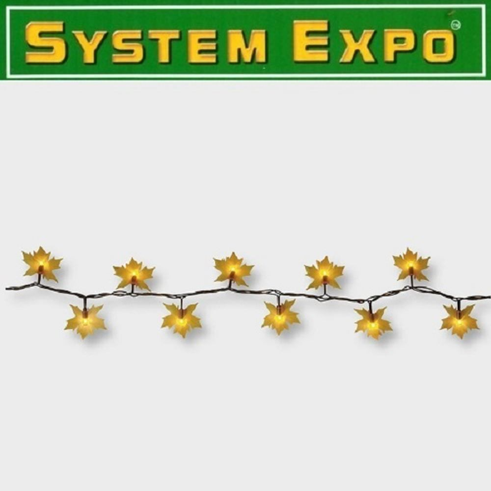 System Expo Lichterkette-Extra 50er klar 5m Leaves Best Season 484-88