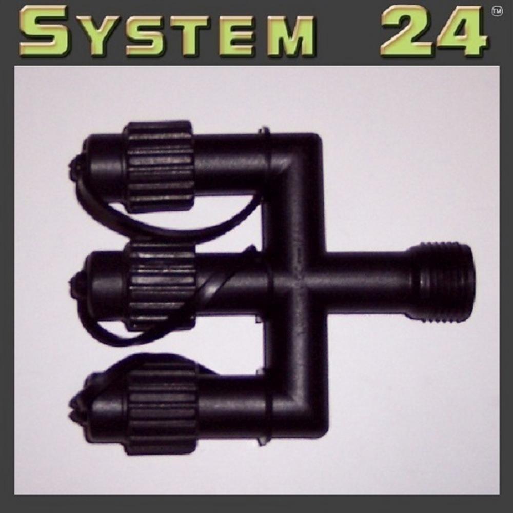 System 24 LED E-Verteiler Connector extra schwarz 490-20 außen