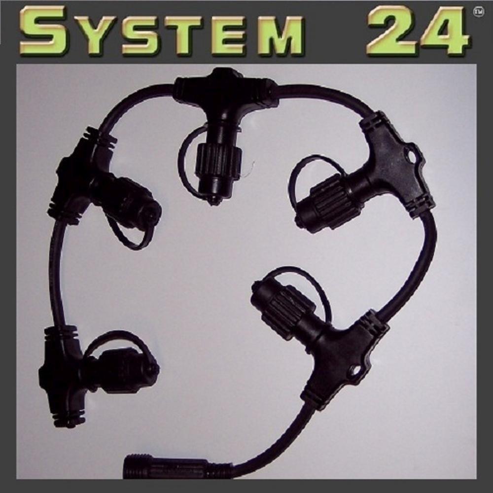 System 24 LED Soft Ring-Verteiler extra schwarz Best Season 490-21 außen