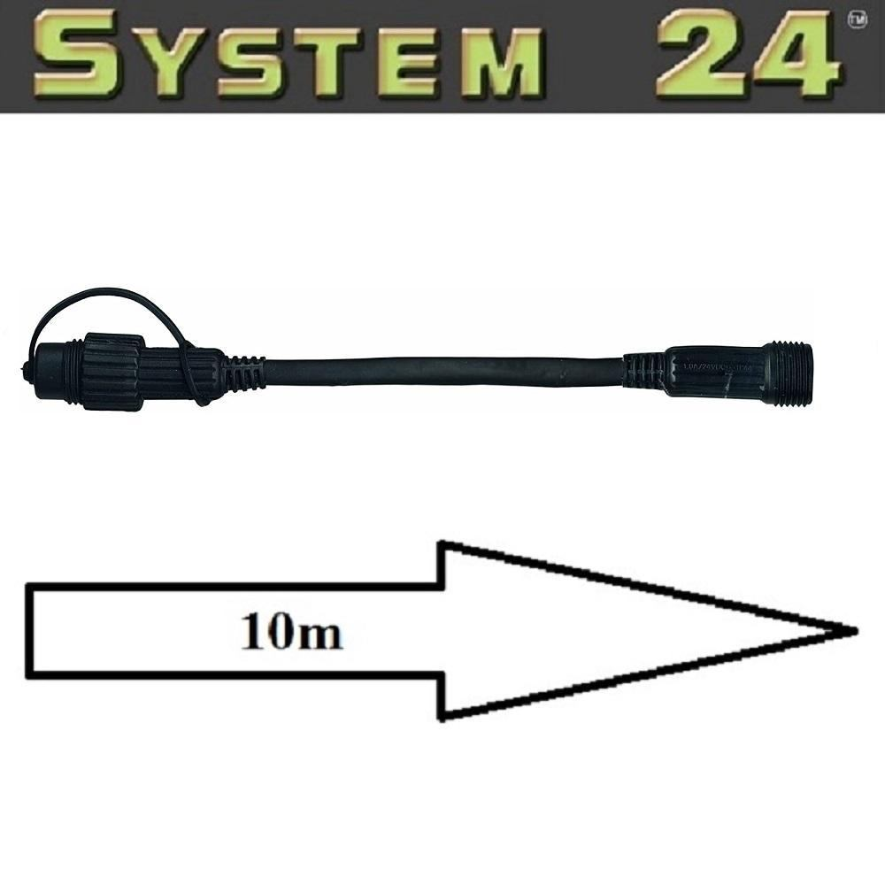 System 24 LED Verlängerungskabel 10m extra schwarz Best Season 490-32 außen
