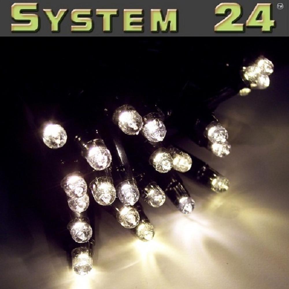 System 24 LED Lichterkette 98er 10m extra warmweiß 491-01 außen exkl. Trafo