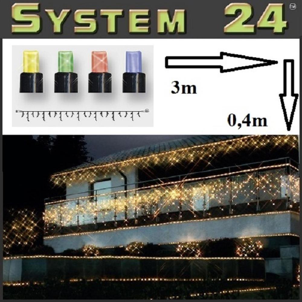 System 24 LED Eisregen-Lichterkette 49er bunt 3x0,4m 491-10-80 außen