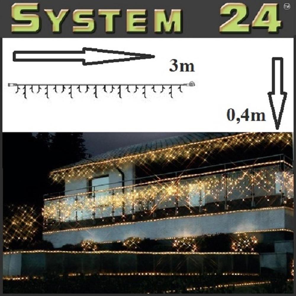 System 24 LED Eisregen-Lichterkette 49er warmweiß 491-10 außen