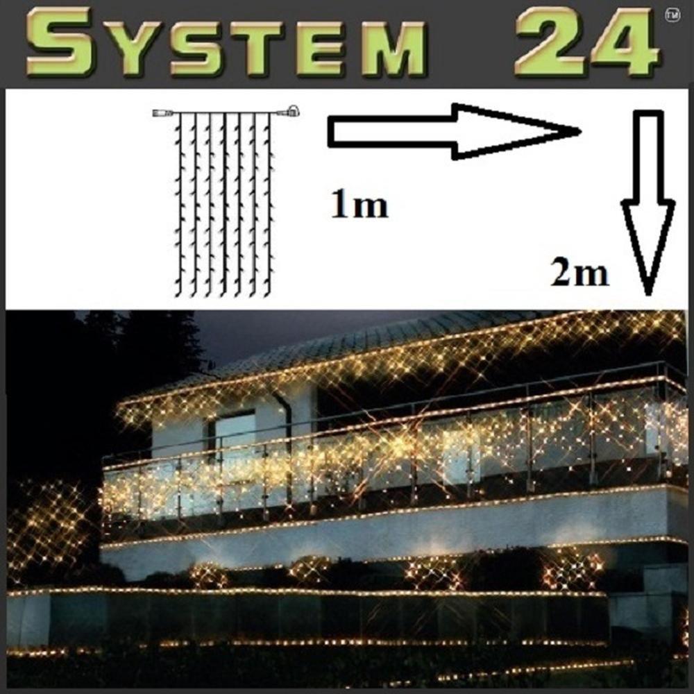 System 24 LED Lichtervorhang 98er extra 1x2m warmweiß 491-12 außen