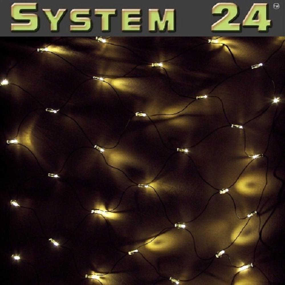 System 24 LED Lichternetz 140er 2x2m extra warmweiß  491-21 außen