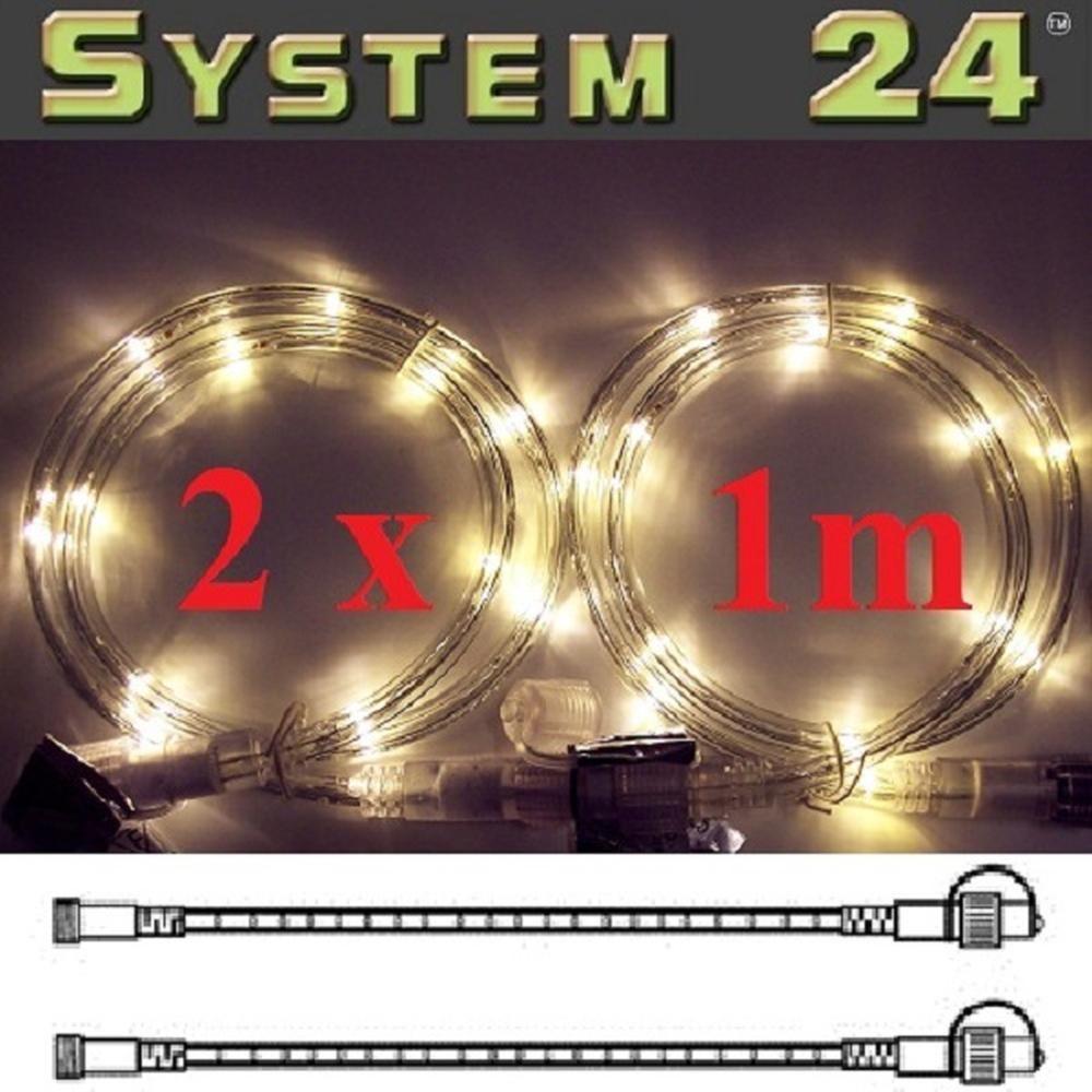System 24 LED Lichtschlauch 2x1m extra warmweiß 491-30 außen
