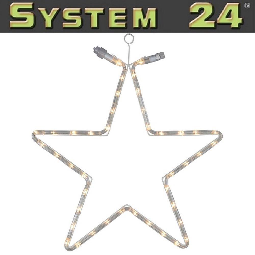 System 24 LED Lichtschlauch Stern extra 55cm warmweiß 491-81 außen