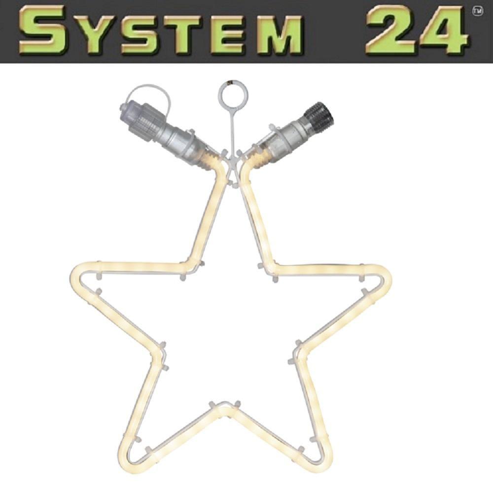 System 24 LED Flat Neon Lichtschlauch Stern 28cm warmweiß 491-83 exkl. Trafo