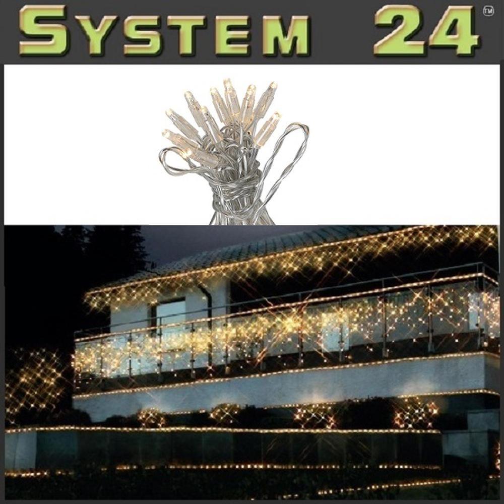 System 24 LED Lichterkette 5m start inkl. Trafo warmweiß 492-06 außen