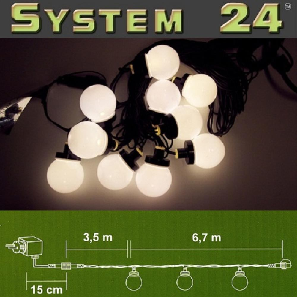 System 24 LED Party-Lichterkette Start inkl. Trafo warmweiß 492-50 außen