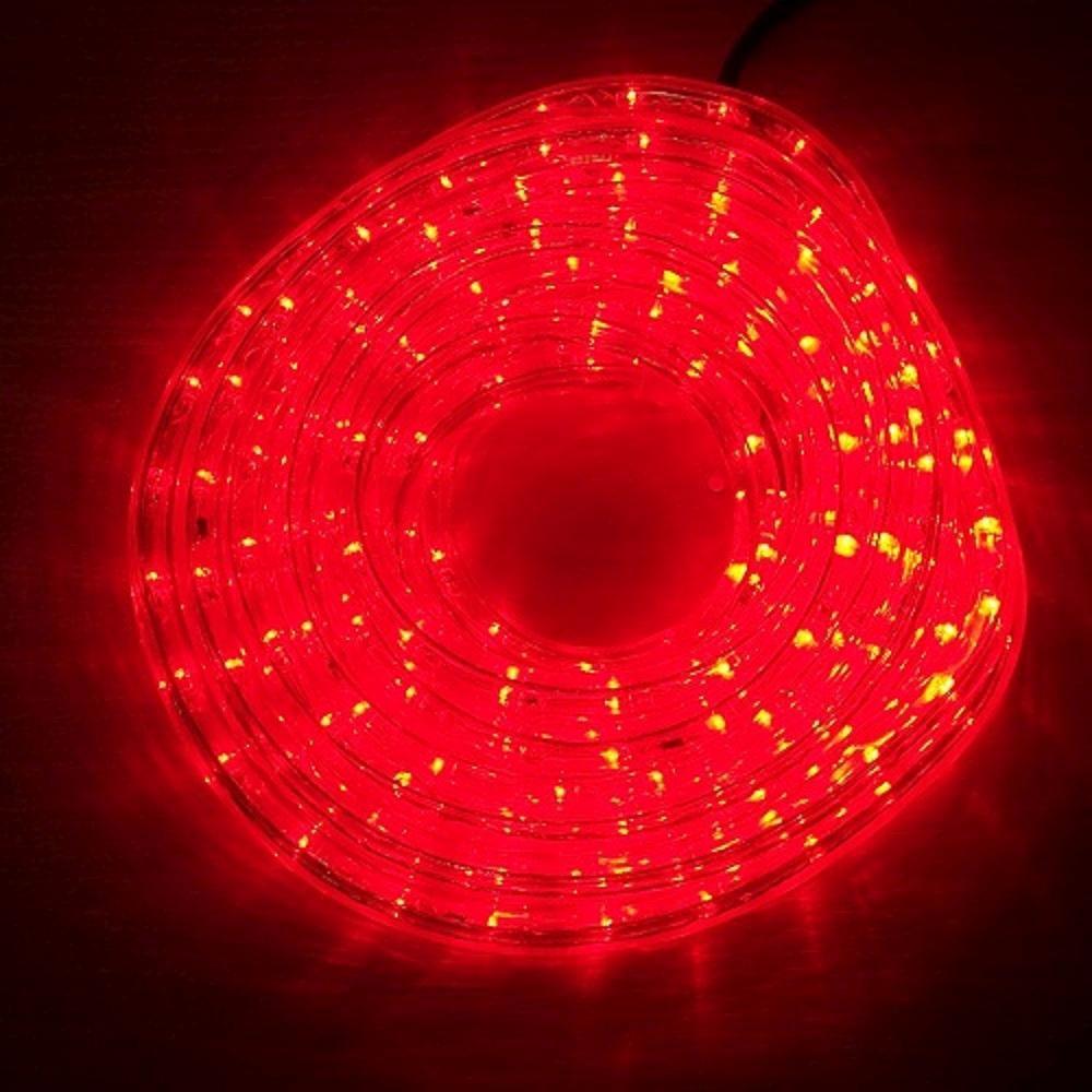 LED Lichtschlauch Lichterschlauch Superflex 6m rot 13mm 556-05 außen