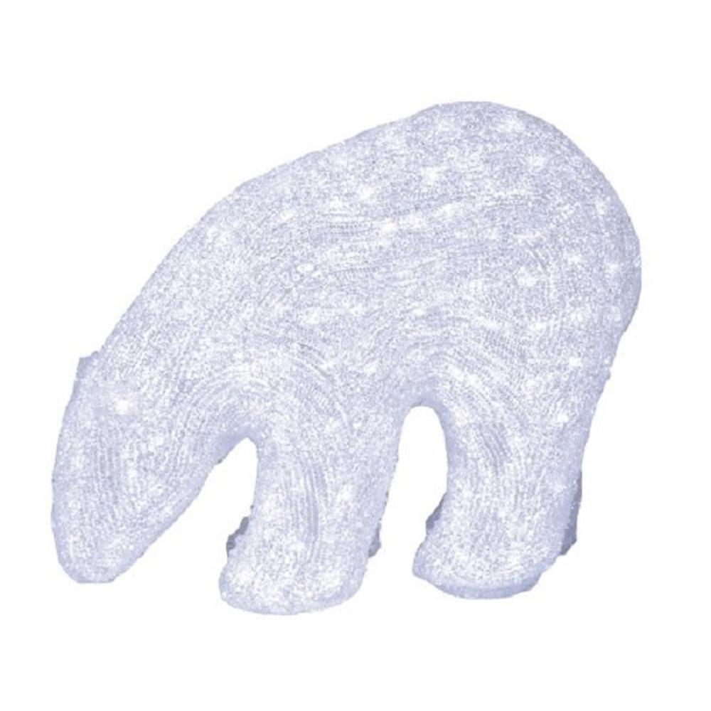 LED Acryl Eisbär stehend 200 Dioden kaltweiß außen 6W Star Trading 583-55